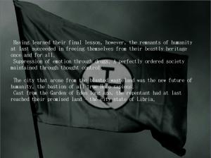 """""""Habiendo aprendido su lección final, sin embargo, el remanente de la humanidad..."""""""