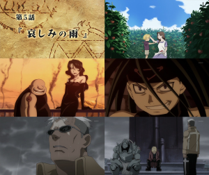 Episodio 05: 哀しみの雨 / Lluvia de tristeza.